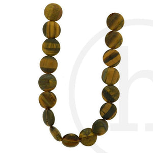 Yellow Tiger Eye (B Grade) Flat Lentil 10�����3mm