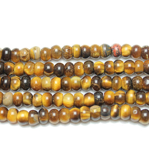 Yellow Tiger Eye (B Grade) Rondell Beads 4x9mmBeads by Halcraft Collection