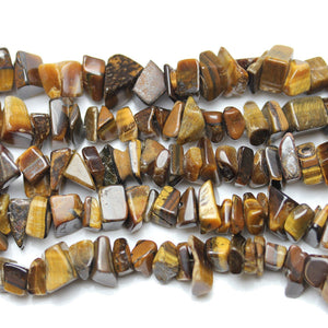 Yellow Tiger Eye (B Grade) Beads Nugget 8x10mmBeads by Halcraft Collection