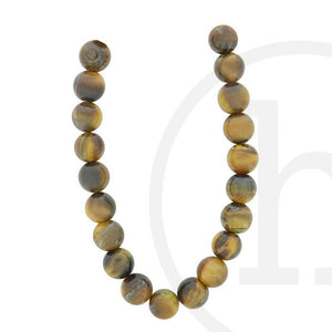 Yellow Tiger Eye (B Grade) Round BeadsBeads by Halcraft Collection