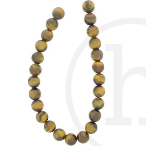 Yellow Tiger Eye Round (B Grade)Beads by Halcraft Collection