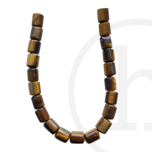 Yellow Tiger Eye (B Grade) Tube 16√ó6mm Beads by Halcraft Collection