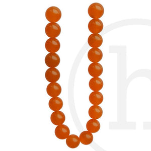 Dyed Orange Jade Round BeadsBeads by Halcraft Collection