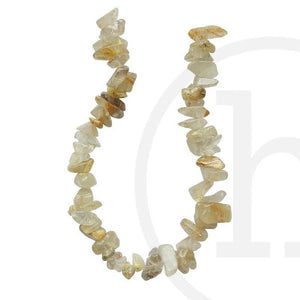 Gold Rutilated Quartz ChipsBeads by Halcraft Collection