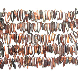 Red Tiger Eye (B Grade) Large Teeth BeadsBeads by Halcraft Collection