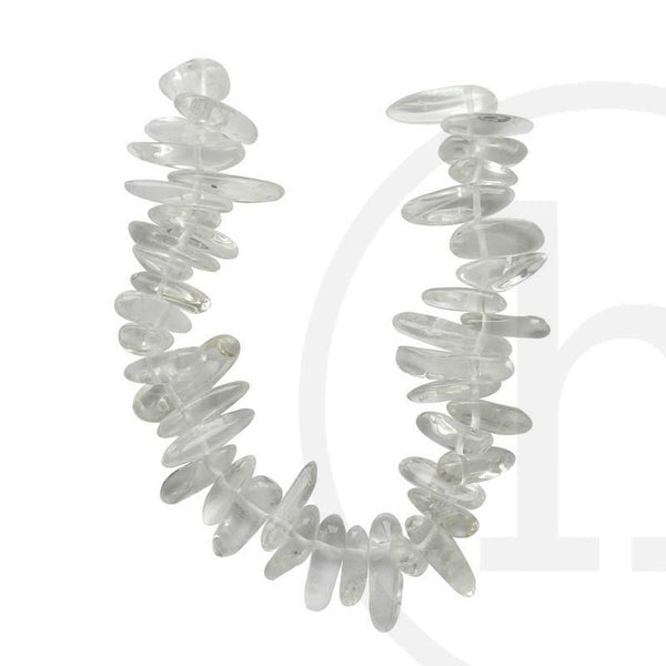 Stone Beads, Stone, Stone Bead, Stone, Beads, Semi-precious, Stone, Crystal, Teeth, Rock Crystal, 5x15mm, 5mm, 15mm, Natural Shape