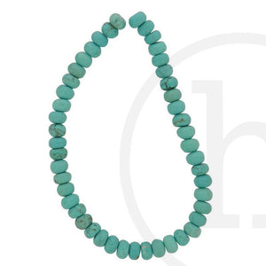Stone Beads, Stone, Stone Bead, Stone, Beads, Semi-precious, Stone, Turquoise, Rondell, Dyed Reconstituted Stone, 4x6mm, 5x8mm, 6x10mm, 8x12mm, 4mm, 6mm, 5mm, 8mm, 10mm, 12mm, Reconstituted Stone