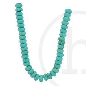 Dyed Reconstituted Stone Turquoise RondellBeads by Halcraft Collection
