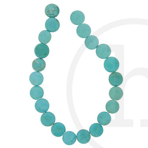Stone Beads, Stone, Stone Bead, Stone, Beads, Semi-precious, Stone, Turquoise, Coin, 10mm, 12mm, 14mm, 16mm, 18mm, 20mm, Reconstituted Stone