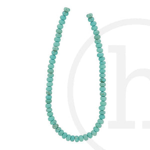 Dyed Reconstituted Stone Turquoise Rondell SlicesBeads by Halcraft Collection