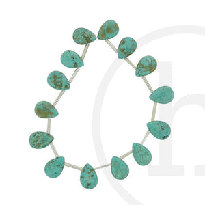 Dyed Howlite Turquoise Teardrop - Top Drilled HoleBeads by Halcraft Collection