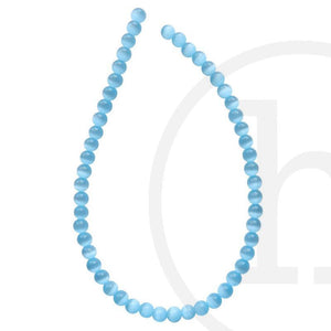 Glass, Glass Beads, Glass, Beads, Glass, Aqua, Round, Cat's eye, 4mm, 6mm, 8mm, 10mm, 12mm