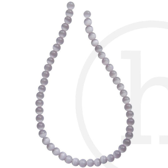 Glass Cat's Eye Round Lavender