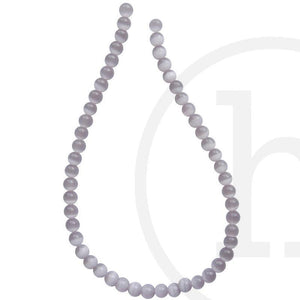Glass Cat's Eye Round LavenderBeads by Halcraft Collection