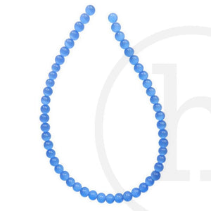Glass, Glass Beads, Glass, Beads, Glass, Light Sapphire, Blue, Round, Cat's eye, 4mm, 6mm, 8mm, 10mm, 12mm