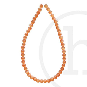 Glass, Glass Beads, Glass, Beads, Glass, Orange, Round, Cat's eye, 4mm, 6mm, 8mm, 10mm, 12mm