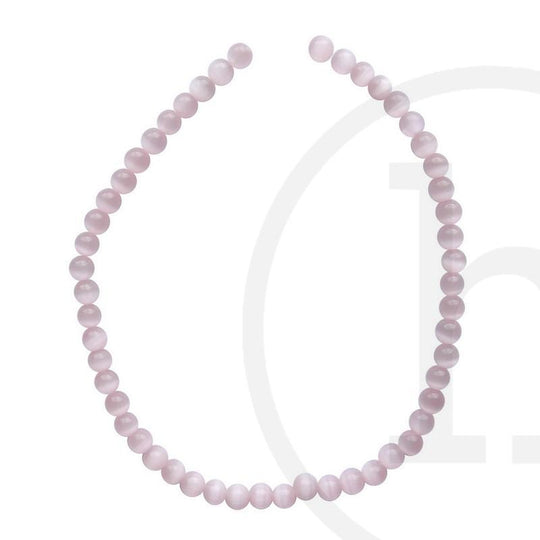 Glass Cat's Eye Round Pink