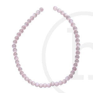 Glass, Glass Beads, Glass, Beads, Glass, Pink, Rose, Round, Cat's eye, 4mm, 6mm, 8mm, 10mm, 12mm