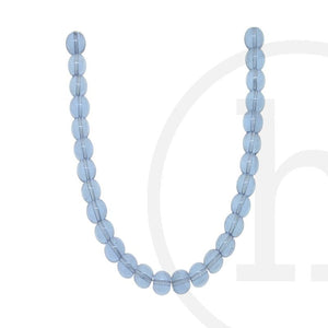 Glass Beads Round Light Sapphire Luster