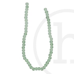 Glass Beads Round Light Green