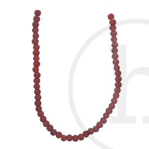 Glass Beads Round Dark Red