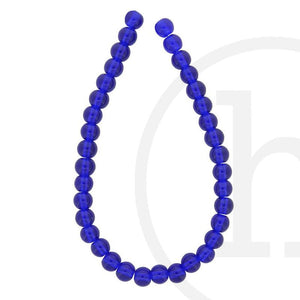 Glass Beads Round Dark SapphireBeads by Halcraft Collection