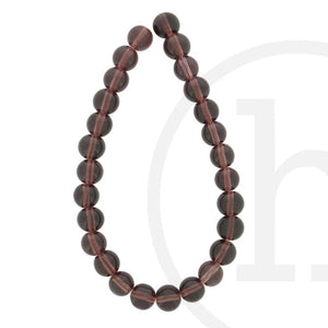 Glass Beads Round AmethystBeads by Halcraft Collection