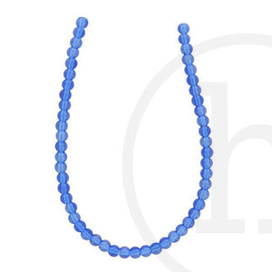 Glass Beads Round Sapphire LusterBeads by Halcraft Collection