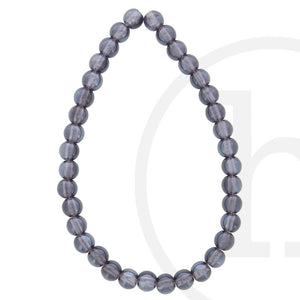 Glass Beads Round Lavender Luster
