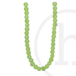 Glass Beads Round Olive