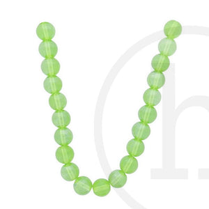 Glass Beads Round Olive Luster