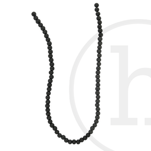 Glass Beads Round Black