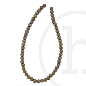 Glass Beads Round Copper