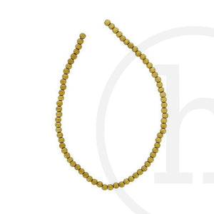 Glass Beads Round Gold