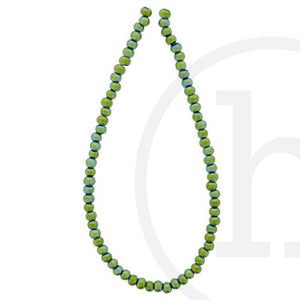 Glass Beads Round Green IrisBeads by Halcraft Collection
