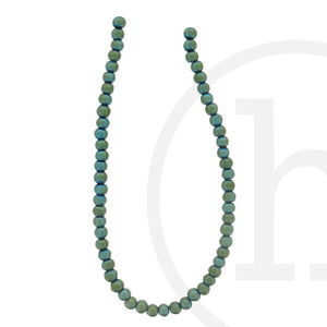 Glass Beads Round Green Iris