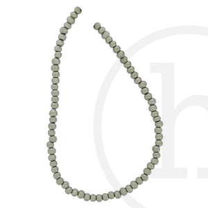 Glass Round Silver Colored Beads