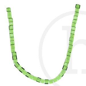 Glass Beads, Glass, Beads, Glass, Grass Green, Green, Cube, 4mm, 6mm