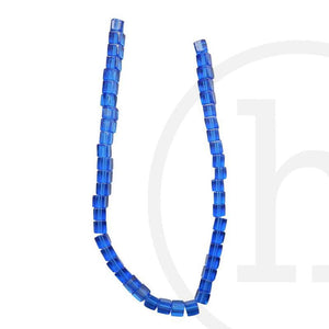 Glass Beads, Glass, Beads, Glass, sapphire, Blue, Cube, 4mm, 6mm