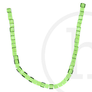 Glass Beads Cube Light Green LusterBeads by Halcraft Collection