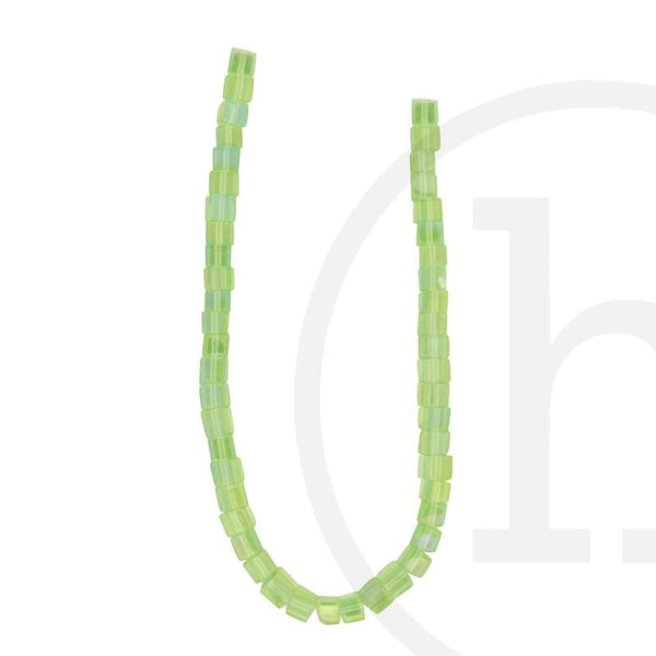 Glass Beads, Glass, Beads, Glass, Light Green, Green, AB, Cube, 4mm, 6mm
