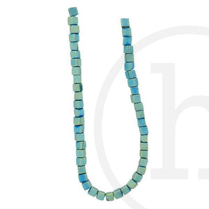 Glass Beads Cube Green IrisBeads by Halcraft Collection
