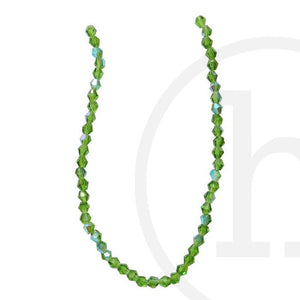 Glass Beads Faceted Bicone Grass Green Ab FinishBeads by Halcraft Collection