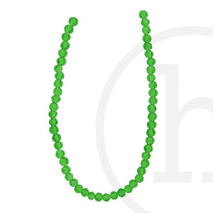 Glass Beads Faceted Round Grass Green