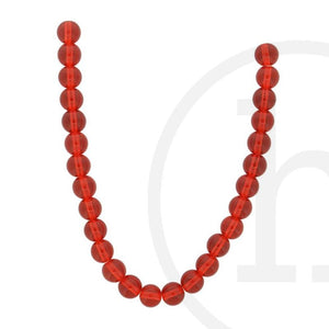 Glass Beads Round  Red