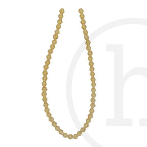 Glass Beads Faceted Bicone Gold TopazBeads by Halcraft Collection