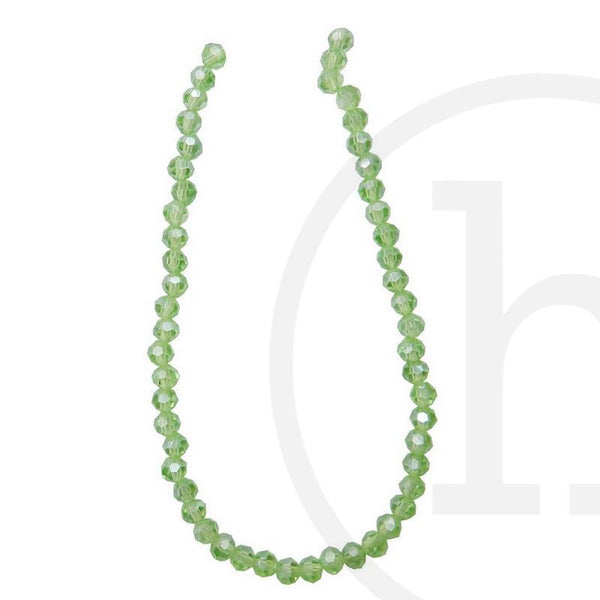 Glass Beads, Glass, Beads, Glass, Light Green, Green, Luster, Faceted, Round, 4mm, 6mm