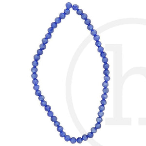 Glass Beads Faceted Round Dark Sapphire Luster