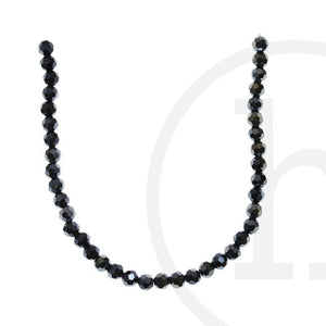 Glass Beads Faceted Round GunmetalBeads by Halcraft Collection