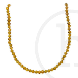 Glass Beads Faceted Round Amber Ab Finish